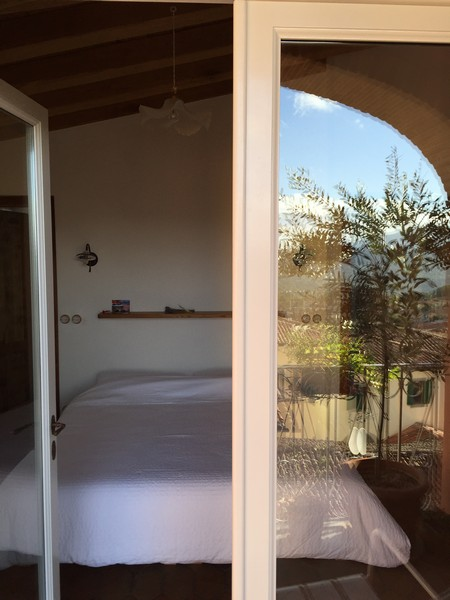 Guest bedroom from balcony
